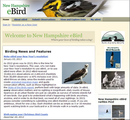 Report Your Sightings to eBird - New Hampshire Bird Records